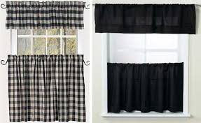 Black Check Curtains Alluring Black And White Kitchen Curtains And Best 25 Buffalo