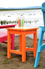 Build A Picnic Table Do It Yourself by Ana White Adirondack Stool Or End Table Diy Projects