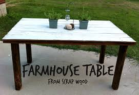 farmhouse table from scrap wood mom in music city