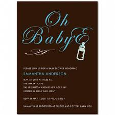 blue and brown baby boy shower invitation bs044