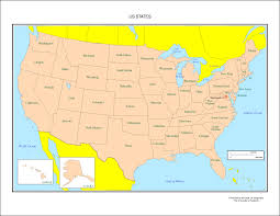 Map Of Usa With Alaska by Map Of Us States Labeled Maps Of Usa