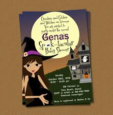 template halloween baby shower invitations