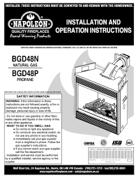 napoleon fireplaces bgd48p user manual pdf download