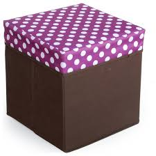 polka dots square foldable storage ottoman storage boxes
