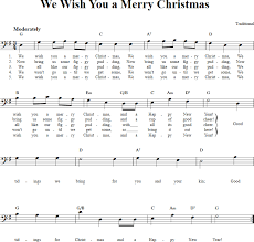 merry christmas chords lyrics bass clef sheet