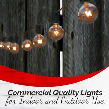 tm 50 clear patio string globe lights with