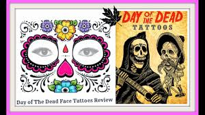 day of the dead skull face tattoo review youtube