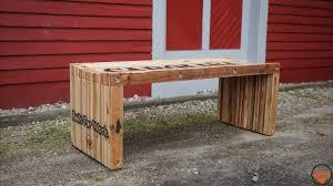 Learn Bench Pallet Wood Slat Bench Jackman Works