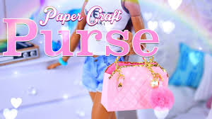 How To Make Doll Kitchen Diy How To Make Doll Purse Hand Bag Plus Pom Pom Keychain