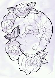 heart and flowers tattoo candy skull and roses tattoo design by thirteen7s on deviantart