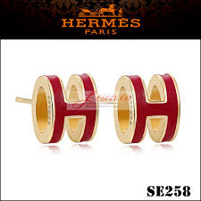 h earrings hermes h earrings cleef replica
