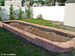 How To Build A Rock Garden Bed How To Build A Raised Garden Bed For Vegetables Pet Scribbles