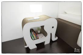 Nightstand Bookshelf Elephant Nightstands Bookcase Template Laser Cutting File