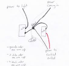wiring an outlet to a light switch nice light switch outlet combo wiring diagram contemporary