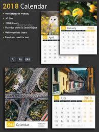 Calendar 2018 Ai Template 483 Besten Calendar Templates Bilder Auf