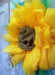 sunflower mesh wreath new sunflower yellow paper flower tutorial with paper mesh center