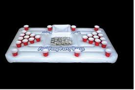 Pool Beer Pong Table by The Party Barge Inflatable Swimming Pool Beer Pong Ad 3339034