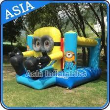 Backyard Cartoon China Backyard Inflatable Minion Cartoon Bouncy Castle With Slide