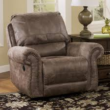 Ashley Oversized Recliner Oberson Gunsmoke Swivel Glider Recliner By Signature Design By