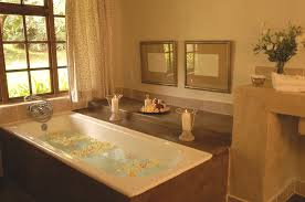 enticing country french bathroom design featuring white color