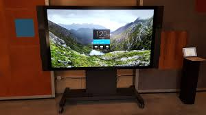 hands on with surface hub microsoft u0027s huge tablet has some