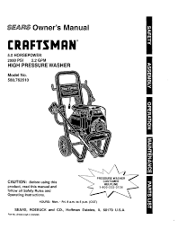 craftsman 580 762010 user manual 34 pages