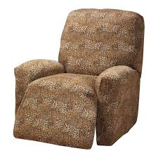 furniture exotic animal print recliner slipcover design cool