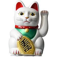 maneki neko money lucky cat japanese statue