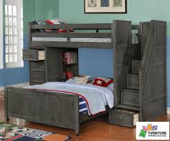 multifunction loft bed in driftwood gray allen house kids loft