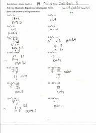 quadratic equations practice worksheets tessshebaylo