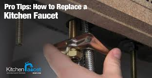 How To Fix A Leaking Kitchen Faucet by Pro Tips How To Replace A Kitchen Faucet Kitchen Faucet Reviews