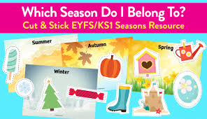 identify the seasons early years resource teachwire teaching