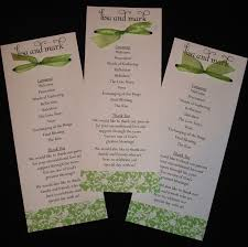 Example Of Wedding Programs 9 Best Wedding Programs Images On Pinterest Wedding Ceremony