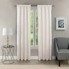 Thermal Energy Curtains White Premium Lined Thermal Energy Efficient Blackout Curtains