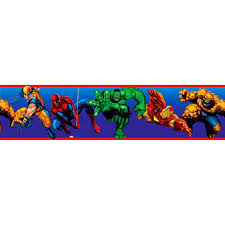 Kids Room Borders by Marvel Heroes Peel U0026 Stick Wall Border Perfect For Ethan U0027s