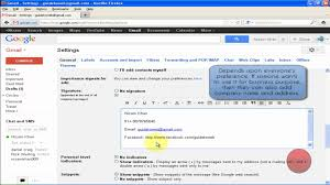 Proper Business Email Signature by How To Add Email Signature In Gmail Youtube