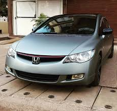 grey honda civic honda civic in hexis hx20ggim wrapattackgoa
