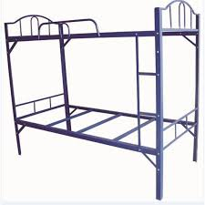bunk students in special thick angle iron bunk iron bed metal