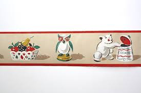 vintage wallpaper border kitchen novelty knick knacks vintage