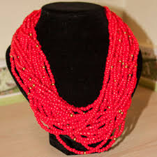 beaded red necklace images Shop multi strand red bead necklace on wanelo jpg