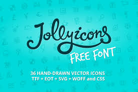 jolly icons free font u2014 free icon font by hand drawn goods