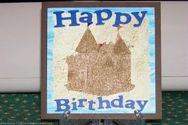 how to make a beach themed sand castle card with matching envelope