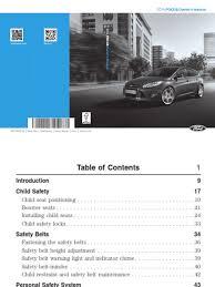 2014 focus owners manual 3 ava avto ru pdf seat belt vehicles