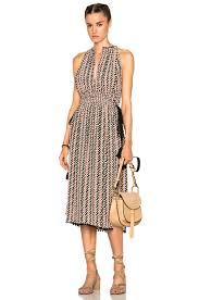 apart fashion apiece apart la rosa dress in small chevron print fwrd