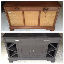 Flip Top Bar Cabinet Old Record Player Cabinet Transformed Into Mini Bar Cabinet
