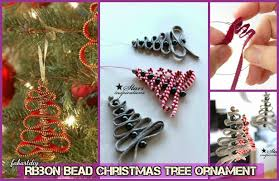 easy ribbon bead tree ornament