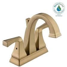 Delta Bronze Bathroom Faucet by Delta Lahara 4 In Centerset 2 Handle Bathroom Faucet With Metal