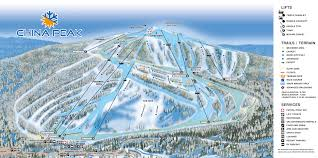 Colorado Ski Resort Map by Trail Map China Peak