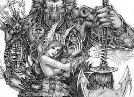 inorganic and organic demon by jiachengwu on deviantart