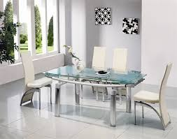 great glass dining room sets with expandable glass dining room
